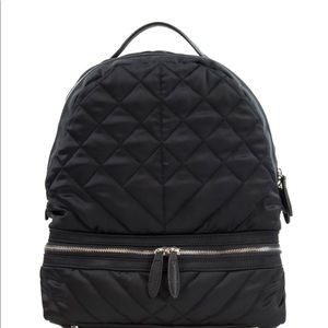 NWT Sam Edelman Black Nylon Quilted Backpack